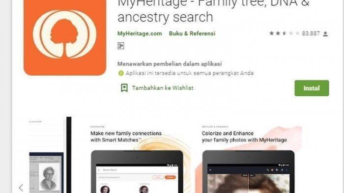 Cara Gunakan Aplikasi MyHeritage, Ubah Foto Seolah Menjadi Hidup