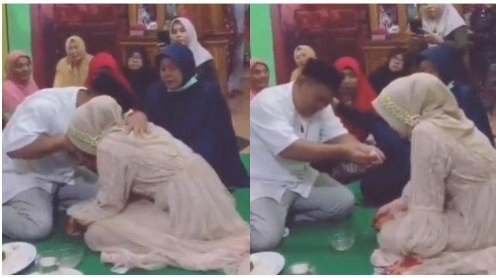 Viral Momen Mengharukan Ayah Menangis Melepas Anak Perempuan Menikah, Ini yang Diucapkan ke Putrinya