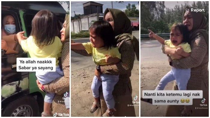 Viral Bocah Tangisi Baby Sitter yang Pulang Kampung, Sudah Dirawat Sejak Lahir, Ibu Ikut Menangis