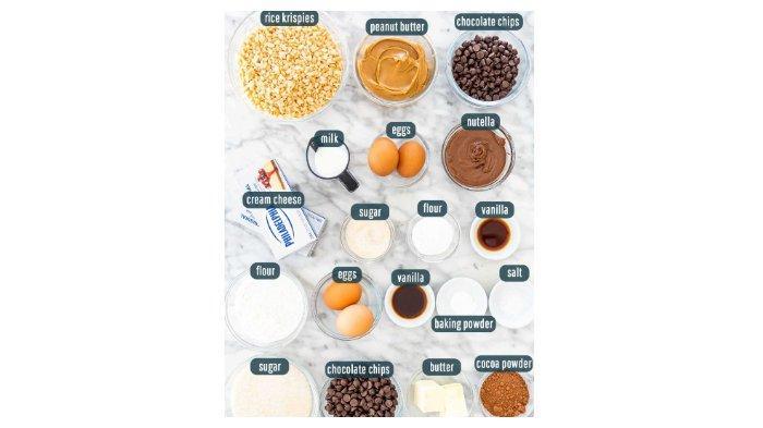 Bahan-bahan Rice Crispie Brownies Triple Layer