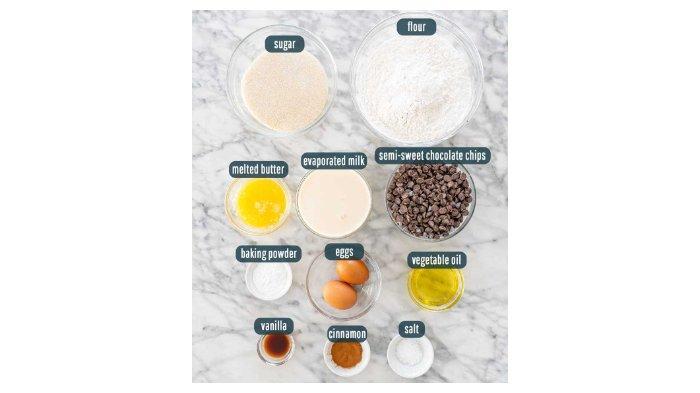 Bahan-bahan untuk membuat muffin