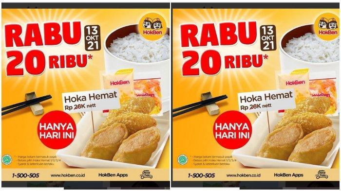 Promo Hokben: Bebas Pilih 1 Paket Hoka Hemat Bayar Cuma Rp 20.000 Saja