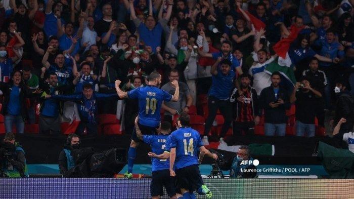 Hasil Final Euro 2021 - Imbang 1-1, Italia vs Inggris Lanjut ke Babak Extra Time