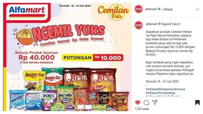Promo Alfamart Periode 16-31 Juli: Belanja Produk Sponsor Rp 40 Ribu Dapat Potongan Rp 10 Ribu