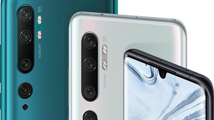 Daftar Harga HP Xiaomi Bulan Februari 2020, Mi Note 10 Pro Dibanderol dengan Harga Rp 6,9 Juta