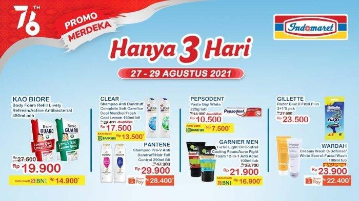 Hari Terakhir Promo JSM Indomaret Periode 27-29 Agustus 2021: Biore Body Foam Refill 450ml Rp 14.900