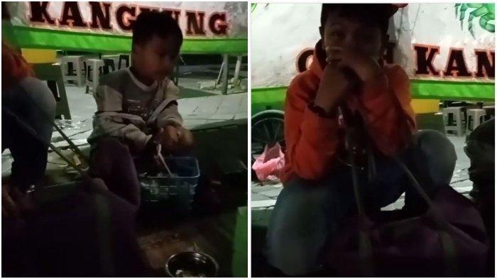 VIRAL Video Bocah 5 dan 10 Tahun Jualan Klepon Mengaku Bantu Orang Tua: Direkam Buat Apa Om?