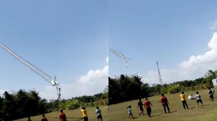 Viral Bocah Terbawa Terbang Layangan Lalu Jatuh, Hari itu Angin Tidak Seperti Biasa