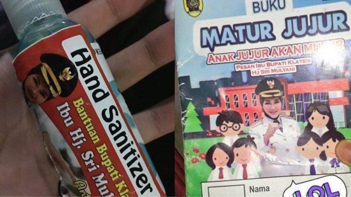 VIRAL Pembagian Hand Sanitizer Bergambar Wajah Bupati Klaten, Sri Mulayani: Petugas Tidak Cermat