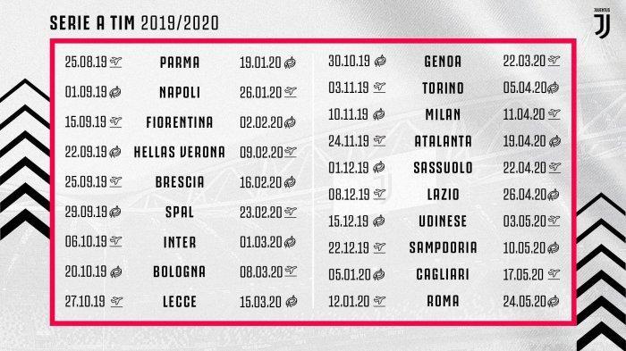 LENGKAP Jadwal Liga Italia 2019-2020 Dirilis, Tim Super Juventus Debut Tandang Kontra Parma