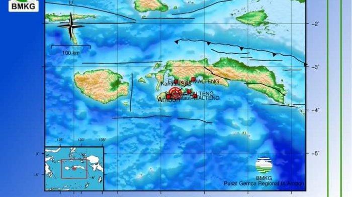 BREAKING NEWS: Gempa 4,1 SR Guncang Ambon, Warga Sempat Panik