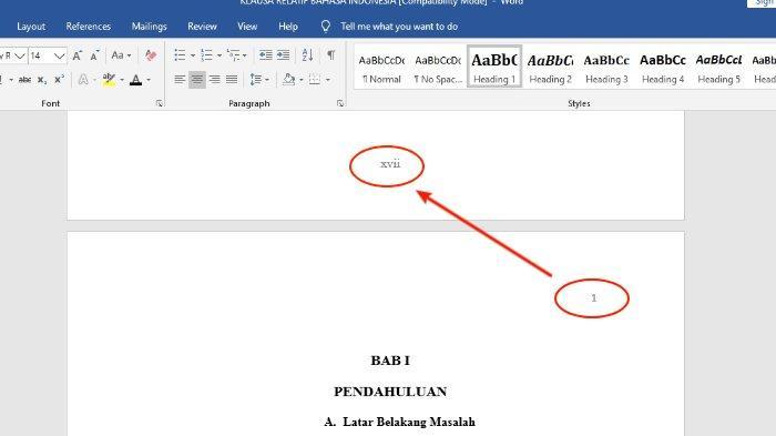 Cara Membuat Nomor Halaman dengan Format Berbeda dalam Satu File Microsoft Word