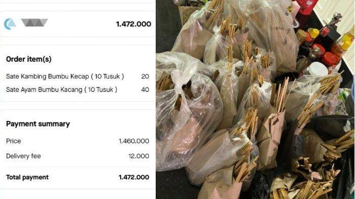 Viral Salah Order Sate 60 Tusuk Menjadi 60 Porsi, Habiskan Uang hingga Rp 1,4 Juta