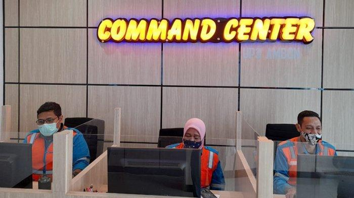 Command Center PLN ULP Ambon Kota, Jumat (28/5/2021).