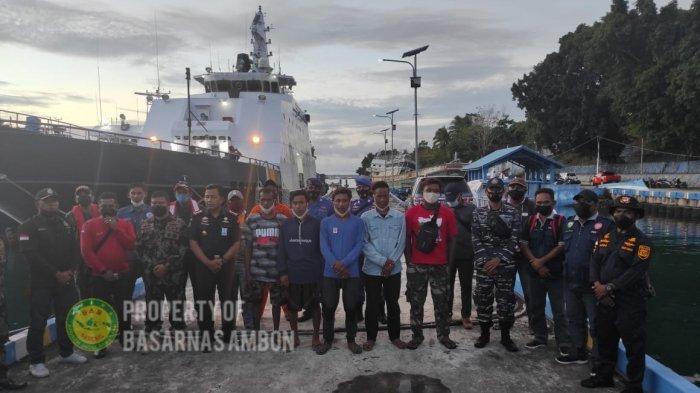 Lima ABK yang menjadi korban kebakaran KM Hentri berhasil dievakuasi ke Tual, Maluku, Sabtu (11/9/2021) siang.