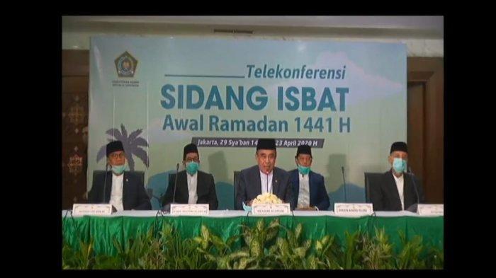 BREAKING NEWS Hasil Sidang Isbat Tetapkan 1 Ramadan Jatuh pada 24 April 2020