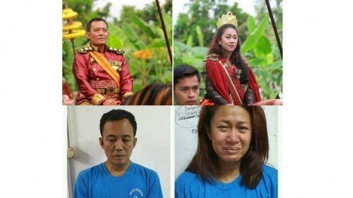 Terlihat Gagah Sebelum Ditangkap, Begini Perbandingan Foto Raja dan Ratu Keraton Agung Sejagat