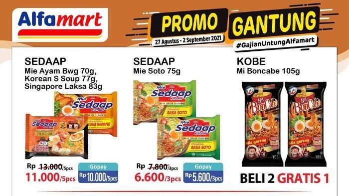 Promo Gantung Gajian Untung Alfamart 27 Agustus - 2 September 2021: Mi Boncabe Beli 2 Gratis 1