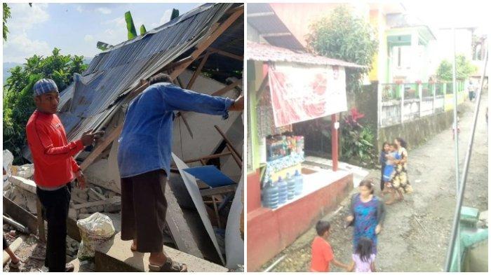 4 Gempa Beruntun Guncang Ambon, Warga Panik Berhamburan, Rumah Anggota Polisi Roboh