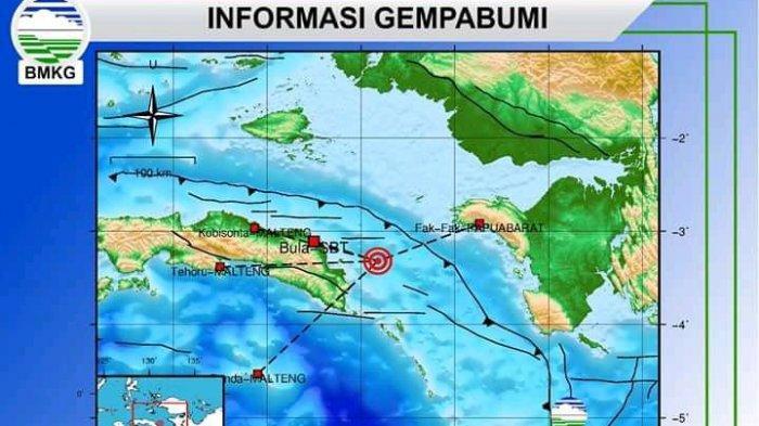 Pagi Ini, Dua Kali Gempa Guncang Maluku Tengah