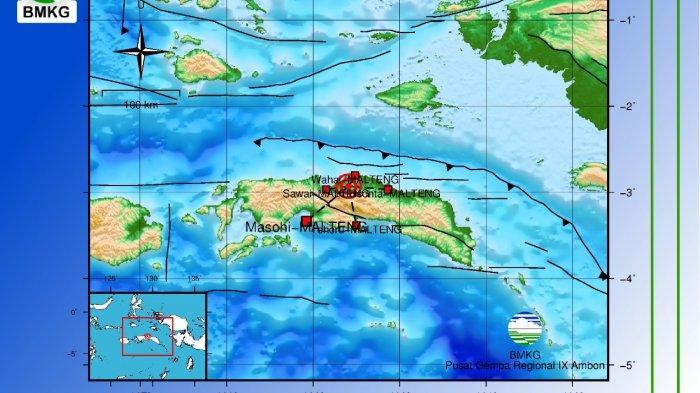 Dua Gempa Guncang Maluku Tengah dan Pulau Buru, Tidak Berpotensi Tsunami