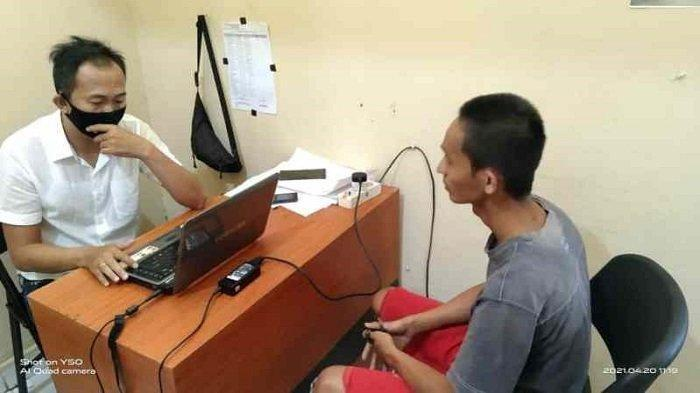 Hendra diringkus Satuan Reserse Kriminal Polsek Cambai