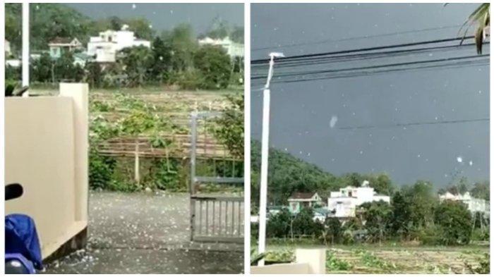 VIRAL Video Hujan Bongkahan Es Sebesar Bola Pingpong Disebut Terjadi di Tawangmangu, Ini Faktanya