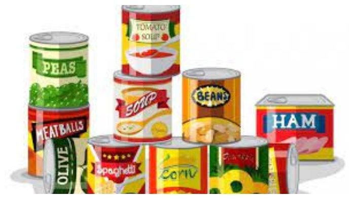 Ilustrasi makanan kaleng