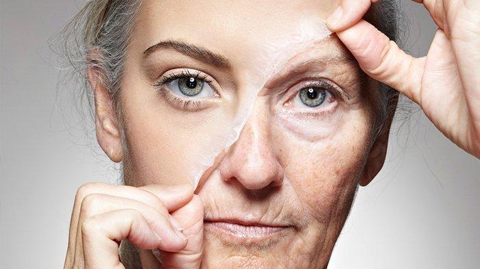 Ilustrasi kulit alami penuaan