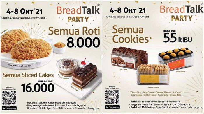 Promo BreadTalk Party: Semua Roti Rp 8.000 dan Sliced Cakes Mulai dari Rp 16.000
