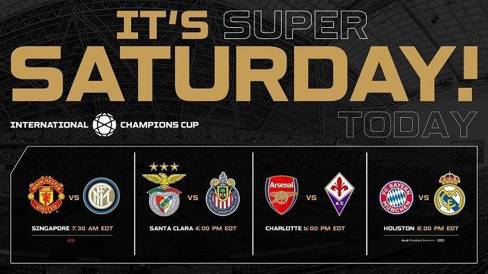 Jadwal International Champions Cup 2019 Besok Minggu, 21 Juli 2019, 8 Tim Tanding, Ada Juve & Madrid