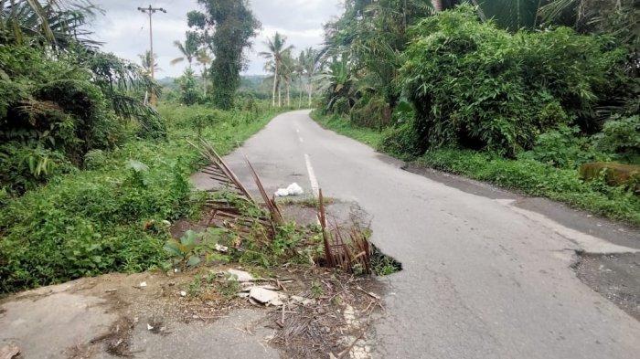 Hati-Hati di Jalan Lintas Seram Desa Haruru - Maluku Tengah, Gelap dan Ada Lubang Besar