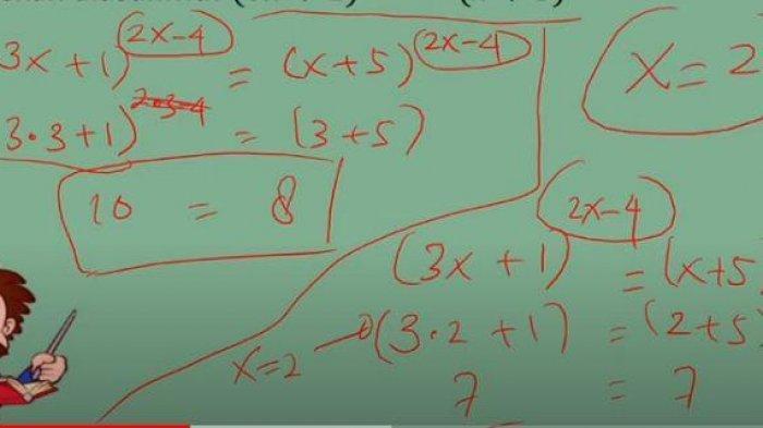 KUNCI JAWABAN Matematika Persamaan Eksponensial untuk SMA, TVRI Belajar dari Rumah 4 Juni 2020
