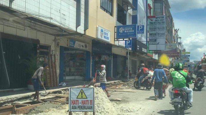 Proyek Trotoar & Drainase 5 Km di Ambon Manise Habiskan Rp49,2 M, Ini Rinciannya