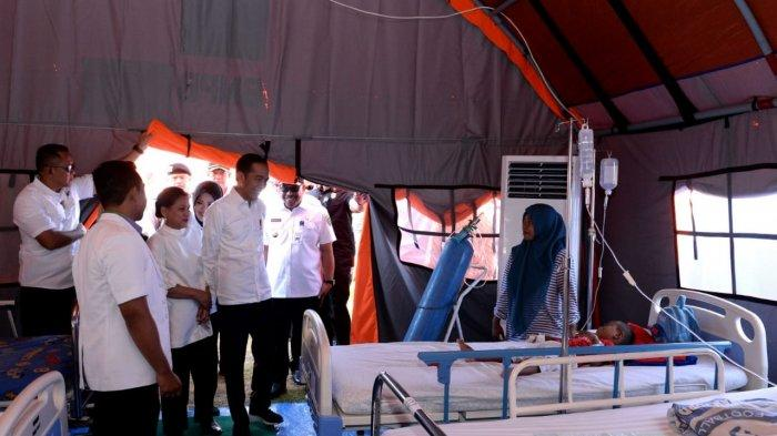 Tinjau Pengungsian, Jokowi Janjikan Rp 50 Juta untuk Korban Gempa Ambon yang Rumahnya Rusak Berat