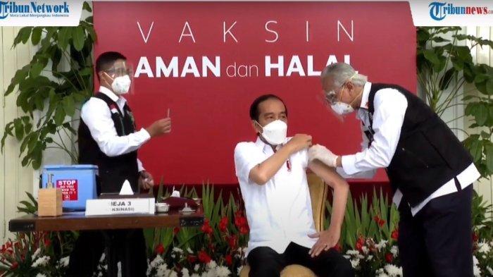Jokowi divaksin