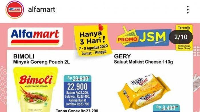 Hari Terakhir Promo JSM Alfamart Periode 7-9 Agustus 2020, Makin Hemat Pakai Gopay!