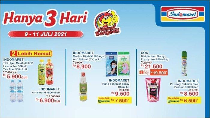 Katalog Promo JSM Indomaret 9-11 Juli 2021, Hand Sanitizer Spray 100ml Rp 7.500 dengan Debit BNI