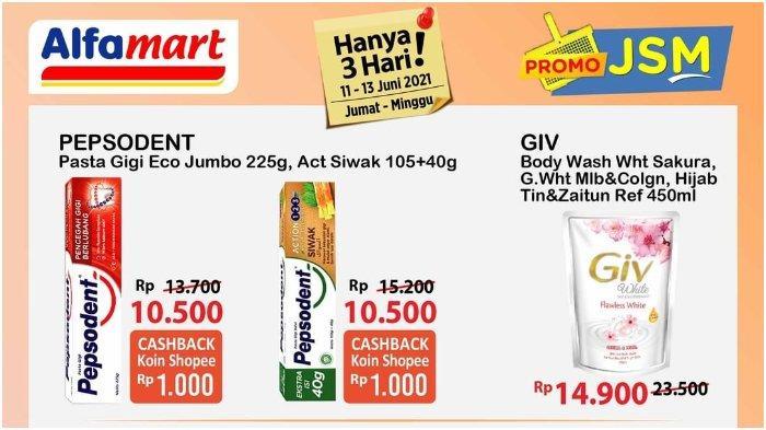 Promo JSM Alfamart 11-13 Juni 2021, Makin Murah hingga Dapat Cashback Bayar dengan ShopeePay