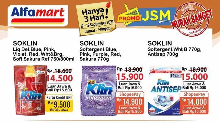 Promo JSM Alfamart 17-19 September 2021: Soklin Liquid Detergen 750/800ml hanya Rp 9.500