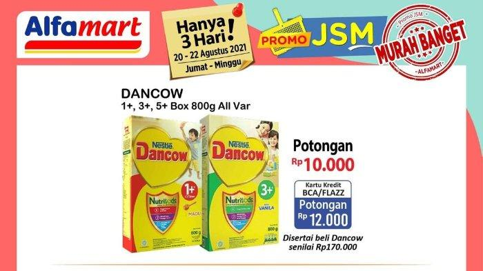 Promo JSM Alfamart 20-22 Agustus 2021: Dancow 1+ 3+ 5+ Box 800gr Diskon Rp 10.000 hingga Rp 12.000