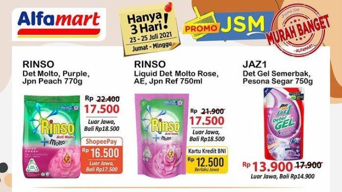 HARI TERAKHIR! Promo JSM Alfamart 23-25 Juli 2021: Rinso 770g hanya Rp 16.500 dengan ShopeePay