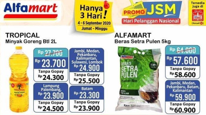 Katalog Promo JSM Alfamart Periode 4-6 September 2020, Makin Murah dengan Gopay!