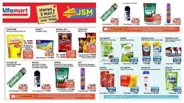 HARI TERAKHIR Promo JSM Alfamart Periode 5-7 Februari 2021, Makin Murah dengan GoPay dan ShopeePay