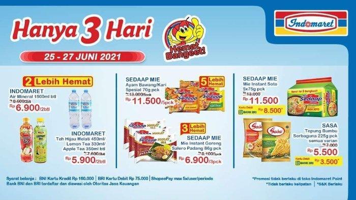 Katalog Promo JSM Indomaret 25-27 Juni 2021: 5 Mie Sedaap Soto Rp 8.500 dengan Debit BNI