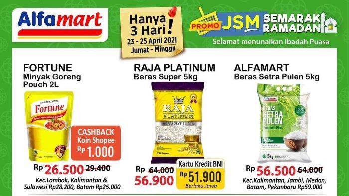 Promo JSM Alfamart 23-25 April 2021, Beli Minyak Goreng Fortune Dapat Cashback dengan Shopeepay