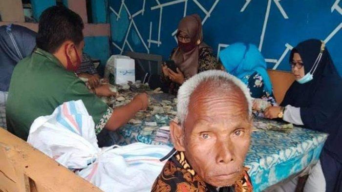Viral Kakek Simpan 5 Karung Uang, Satu Karung Berisi Rp 81 Juta, Dihitung 12 Orang dalam 2 Hari