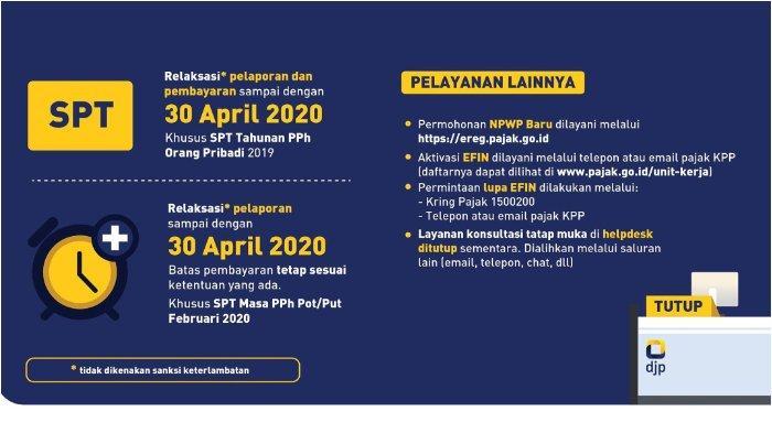 Terakhir 30 April 2020, Ini Cara Mengisi SPT Pajak Jenis 1770SS Lewat HP di djponline.pajak.go.id