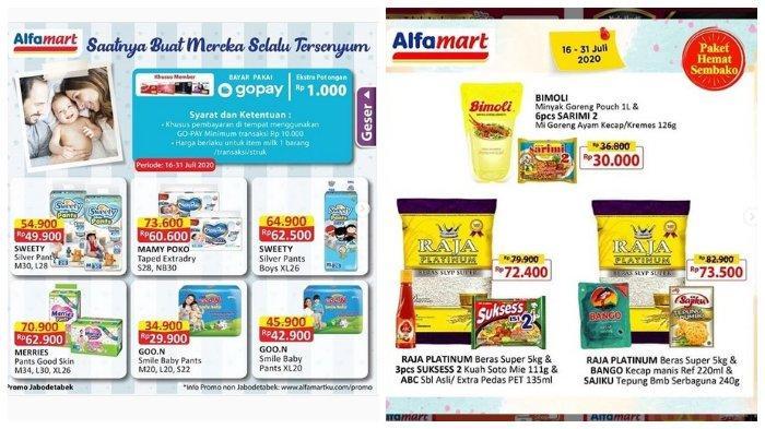 KATALOG PROMO ALFAMART 16-31 Juli: Paket Hemat Sembako Rp 30 Ribu dapat Minyak Goreng dan Sarimi