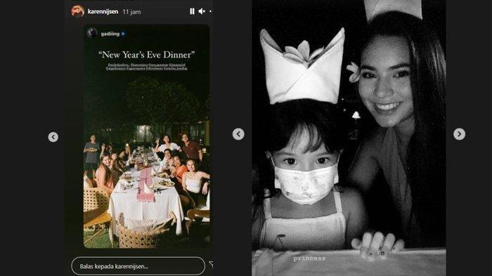 Gading Marten Unggah Foto Rayakan Tahun Baru Bersama, Kedekatan Gempi & Karen Nijsen Curi Perhatian